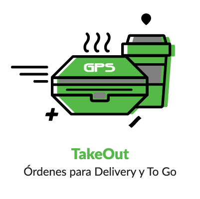 Iconografía NCR Aloha TakeOut delivery To Go