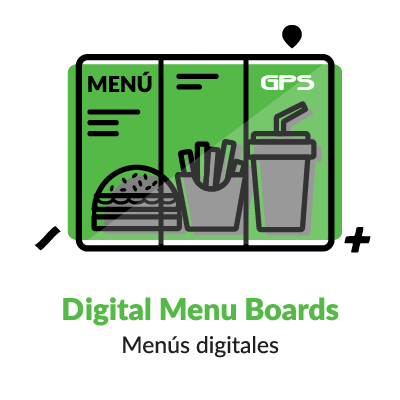 Iconografia NCR Digital Menu Boards pantallas
