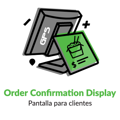 Iconografía NCR Order Confirmation Center display clientes