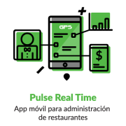 Iconografia NCR Pulse Real Time app móvil