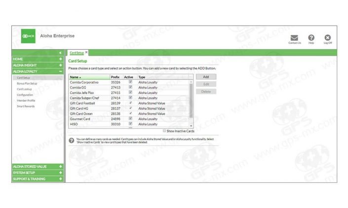Dashboard de tarjetas en Loyalty de enterprise